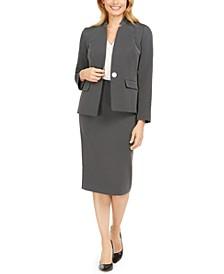 Pin-Dot Jacket & Pencil Skirt