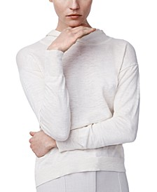 Cotton Heathered Gauze Knit Hoodie
