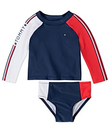 Baby Girls 2-Pc. Zelda Rash Guard Swimsuit