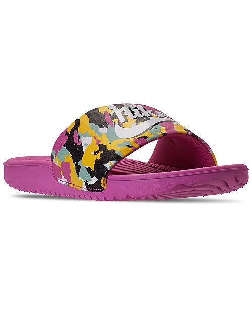 Nike Big Girls React Kawa SE MC Slide Sandals from Finish Line