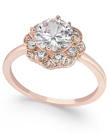 Rose Gold-Tone Stone & Crystal Flower Ring, Created for Macy's
