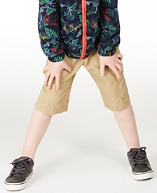 Little Boys Textured Canvas Cargo Shorts, Created for Macy's