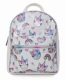 Toddler, Little and Big Kids Miss Gwen Rainbows Hologram Printed Mini Backpack