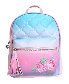 Toddler, Little and Big Kids Ombre Mini Backpack with Flower Embroidery