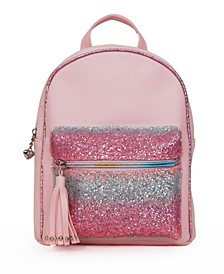 Toddler, Little and Big Kids Mini Backpack with Ombre Glitter Pocket