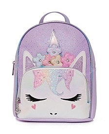 Toddler, Little and Big Kids Miss Gwen Perforated Mini Backpack with Flower Crown