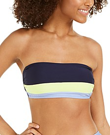Colorblocked Bandeau Bikini Top