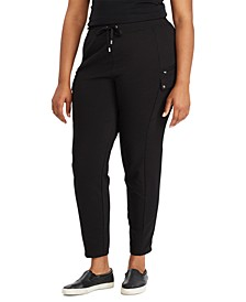 Plus-Size Cotton-Blend Cargo Pants