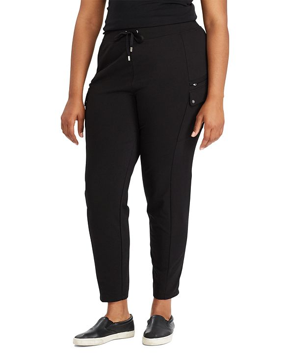 Lauren Ralph Lauren Plus-Size Cotton-Blend Cargo Pants
