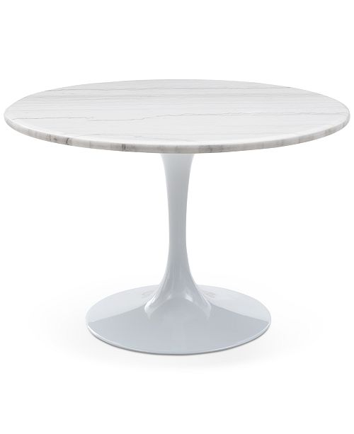 Steve Silver Colfax White Marble Table