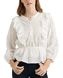 Naomi Cotton Peplum Top