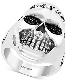 EFFY® Men's Black Spinel Rock n' Roll Statement Ring in Sterling Silver