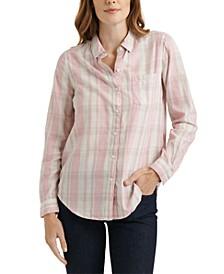Classic One-Pocket Plaid Cotton Shirt
