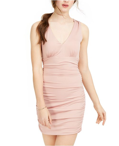 Teeze Me Juniors' Ruched Bodycon Dress