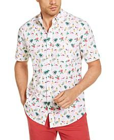 Men's Shane Ditsy Print Short Sleeve Shirt, Created for Macy's