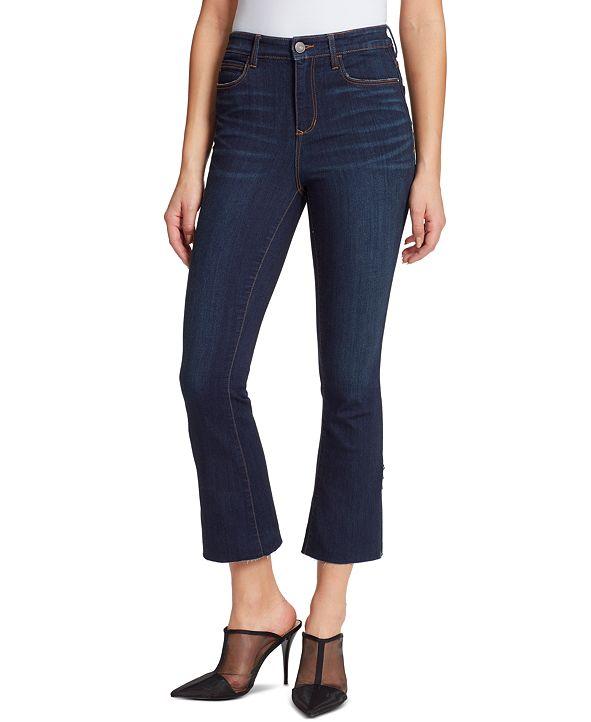 Skinnygirl Julie Cropped Flare-Leg Jeans