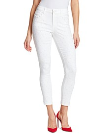 Fritzo Studded-Front Skinny Jeans