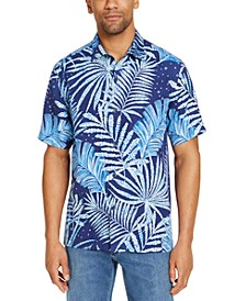 Men's Through the Fronds Classic-Fit Tropical Print Silk Camp Shirt