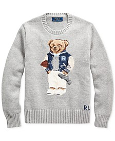 Big Boys Football Bear Cotton Sweater