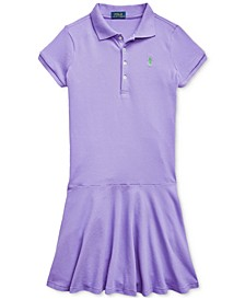 Big Girls Stretch Piqué Polo Dress