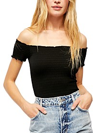 Moulin Ruched Off-The-Shoulder Top