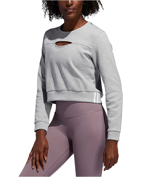 adidas Women's Cutout Cropped Sweatshirt