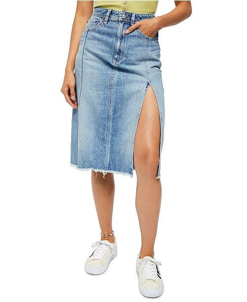 Free People Mambo Denim Skirt