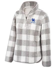 Women's Kentucky Wildcats Buffalo Check Sherpa Pullover