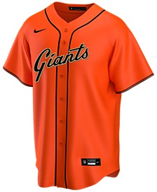 Men's San Francisco Giants Official Blank Replica Jersey