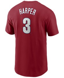 Men's Bryce Harper Philadelphia Phillies Name and Number Player T-Shirt