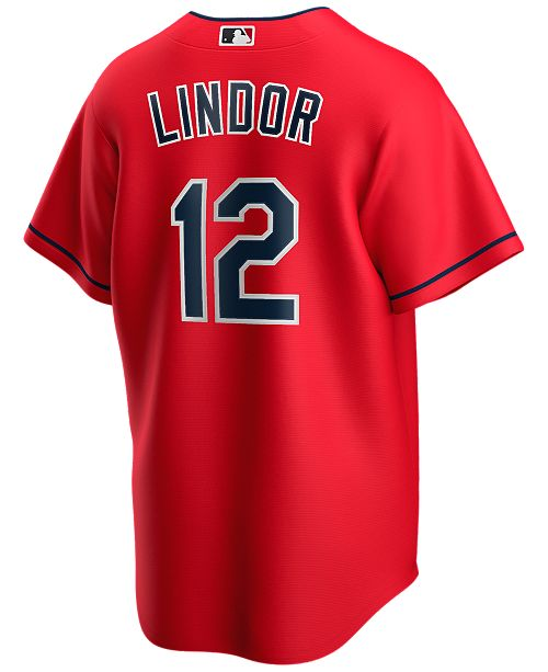 Nike Men's Francisco Lindor Cleveland Indians Official Player Replica Jersey
