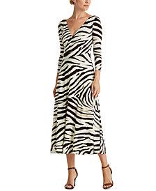 Lauren Ralph Lauren Print Jersey Dress