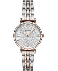 Women's Two-Tone Stainless Steel & Crystal Bracelet Watch 32mm