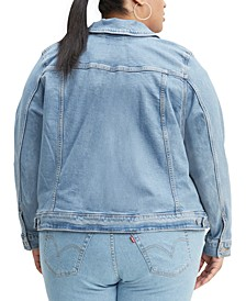 Trendy Plus Size Original Denim Trucker Jacket