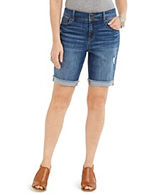 Distressed Bermuda Shorts, Created for Macy's