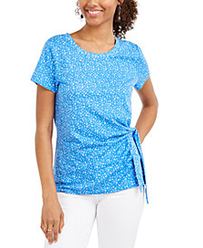 Style & Co Printed Tie-Side Top, Created for Macy's