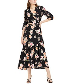 Bloom Wrap Maxi Dress, Created For Macy's