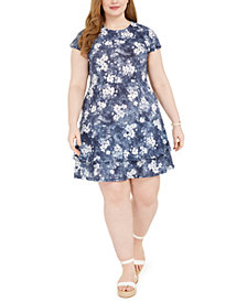 Michael Michael Kors Plus Size Double-Tiered Dress