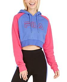 Valeria Colorblocked Cropped Hoodie