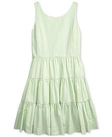 Big Girls Tiered Cotton Seersucker Dress