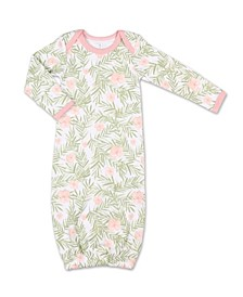 Baby Girl Tropical Girl Floral Print Sleep Gown