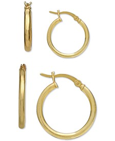 2-Pc. Set Small Hoop Earrings in 18k Gold-Plated Sterling Silver, Created for Macy's