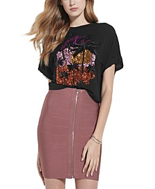 Sunny Cotton Sequined T-Shirt