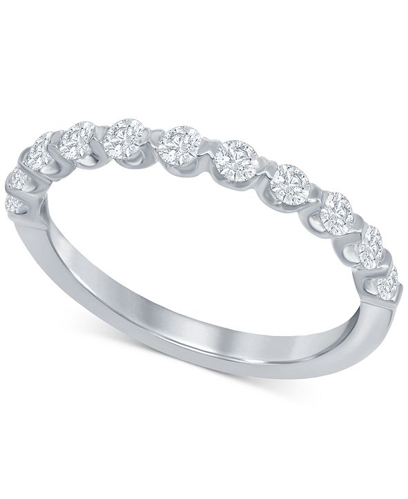 Macy's Diamond Bubble Band (1/2 ct. t.w.) in 14k White Gold