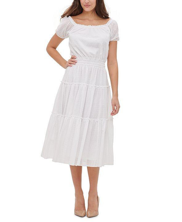 Tommy Hilfiger Cotton Tiered Midi Dress