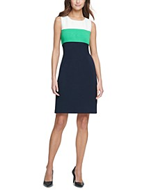 Petite Colorblocked A-Line Dress