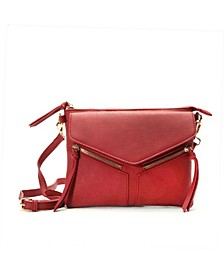 Overlap Pocket Crossbody Bag