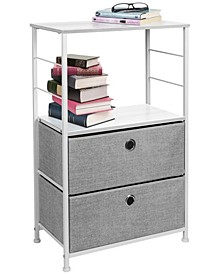 Nightstand 2-Drawers Shelf Storage