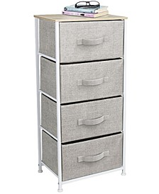 Nightstand Chest with 4 Drawers