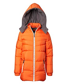 Big Boys Quilted Puffer with Logo Taping